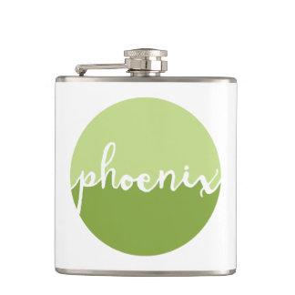 Phoenix, Arizona | Green Ombre Circle Hip Flask