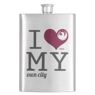 Phoenix Arizona I love my own city Hip Flask