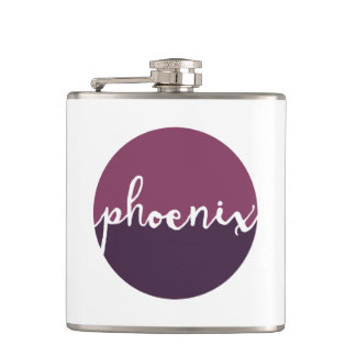 Phoenix, Arizona | Purple Ombre Circle Hip Flask
