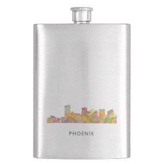 PHOENIX ARIZONA SKYLINE WB1 - Throw pillow Hip Flask