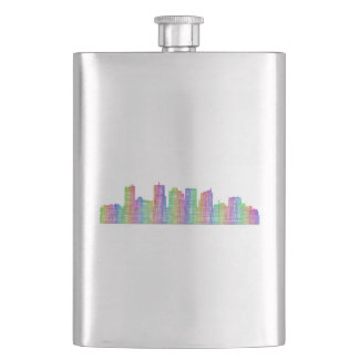 Phoenix city skyline hip flask