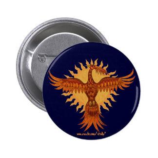 Phoenix fire bird cool button design