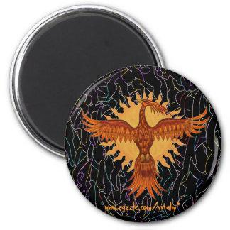 Phoenix fire bird cool magnet design