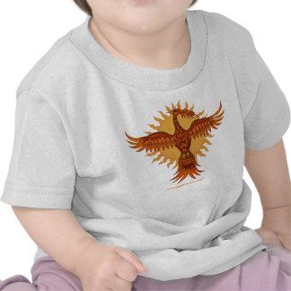 Phoenix fire bird cute baby t-shirt design