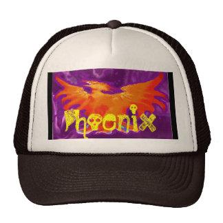 Phoenix Fire Bird Purple Baseball Trucker Hat