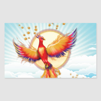 Phoenix Fire Bird Rising Rectangular Sticker