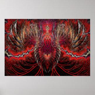 Phoenix Rising Fractal Poster
