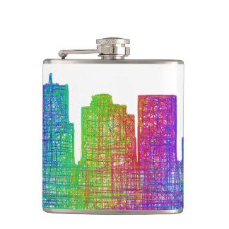Phoenix skyline hip flask