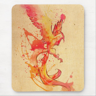 Phoenix splash mouse pad