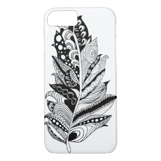 Phone Case -- Hand Drawn Feather