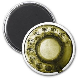 Phone Dialer 6 Cm Round Magnet