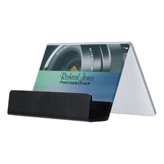 Photagraphy Camera Lens Photographer Desk Business Card Holder