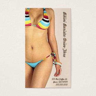 Photo Bikini Barista Drive-Thru Customise Business Card