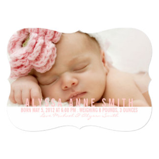 Photo Birth Announcement   Named