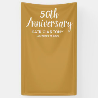 Photo Booth 50 Wedding Anniversary CAN EDIT COLOR Banner
