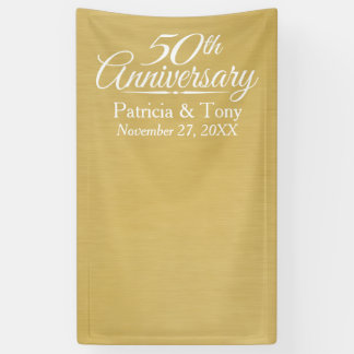 Photo Booth Backdrop - 50th Wedding Anniversary Banner