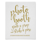 Photo Booth Gold Glitter 8x10 Wedding Sign