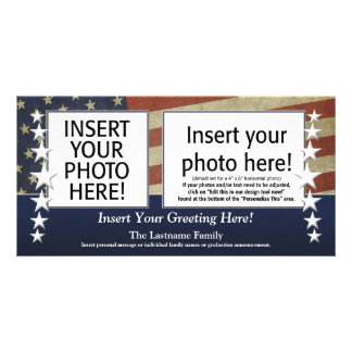 Photo Card - Patriotic or Military Theme