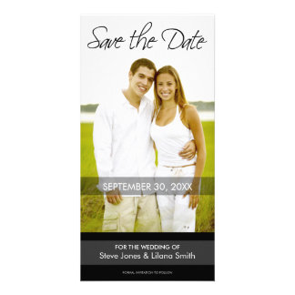 Photo Card: Save the Date - Minimalistic Personalized Photo Card