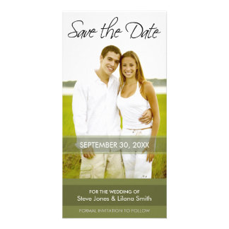 Photo Card: Save the Date - Minimalistic Photo Greeting Card