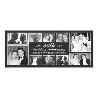 Photo Celebration 50th Wedding Anniversary 10 Cm X 24 Cm Invitation Card