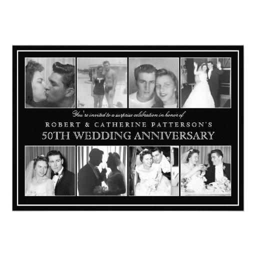 Photo Celebration 50th Wedding Anniversary Personalized Invites