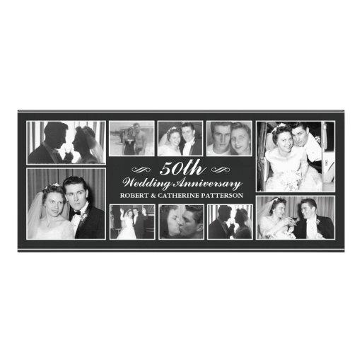 Photo Celebration 50th Wedding Anniversary Custom Announcements