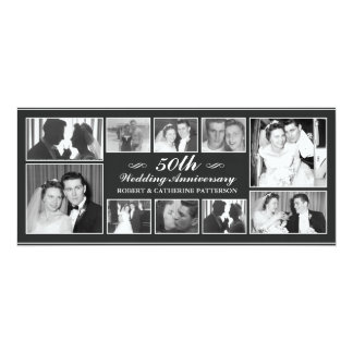 Photo Celebration 50th Wedding Anniversary Custom Announcements