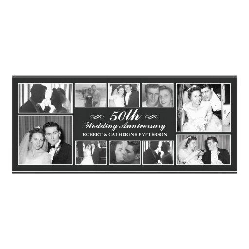 Photo Celebration 50th Wedding Anniversary Invites