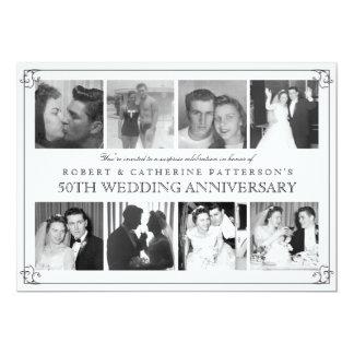 Photo Celebration 50th Wedding Anniversary 13 Cm X 18 Cm Invitation Card