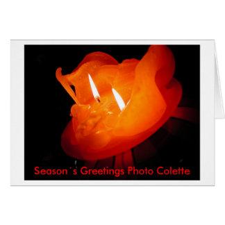 Photo:CHG, Season´s Greetings Photo Colette Greeting Card