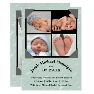 Photo Collage Arrows - Birth Announcement