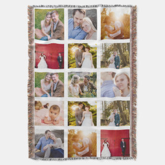 Photo Collage Gift 15 photo blanket
