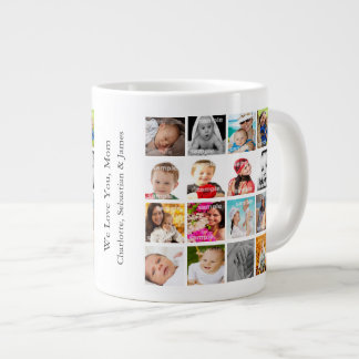 Photo Collage Personalised Custom Make Your Own Large Coffee Mug