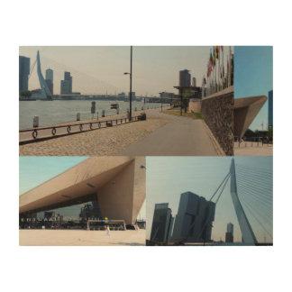 Photo collage Rotterdam 4 Wood Wall Art