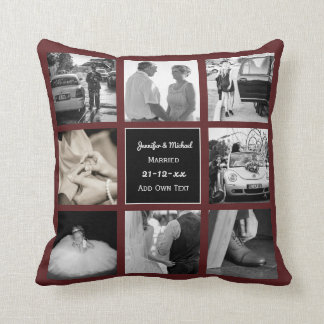 PHOTO COLLAGE Wedding Vow Renewal or Anniversary Cushion