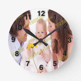 Photo Family Budget Template Round Clock