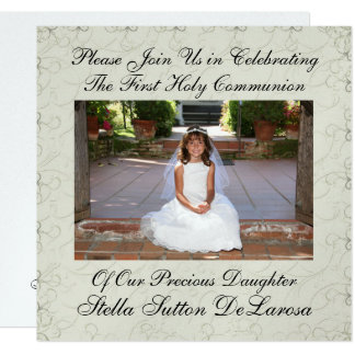 Photo Invitation - First Holy Communion Invitation