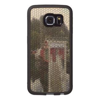 Photo mosaic wood phone case