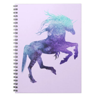 Photo Notebook (80 Pages B&W) Purple/Teal Unicorn