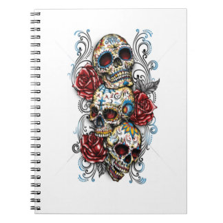 Photo Notebook/Skull and Roses Spiral Notebooks