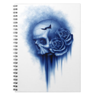Photo Notebook/Skull with Roses Spiral Notebooks