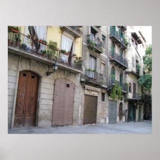 Photo of Barcelona, Barri Gòtic (Gothic Quarter) Poster