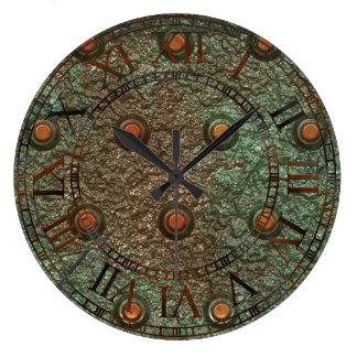 Photo Realistic Steampunk Plate Metal Rusty Steel Large Clock