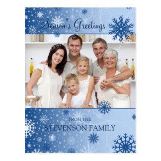 Photo Snowflakes Season s Greetings Postcards