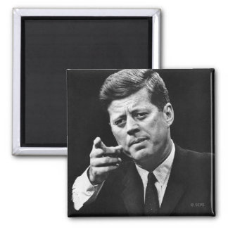 Photograph of John F. Kennedy 3 Magnet