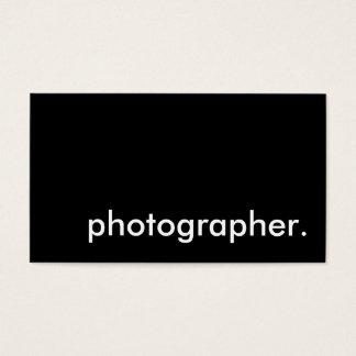 photographer. business card