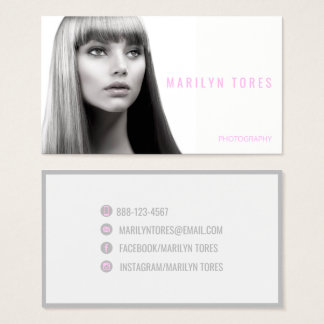 ★ Photographer-Hairstylist-Model Modern Headshot ★ Business Card