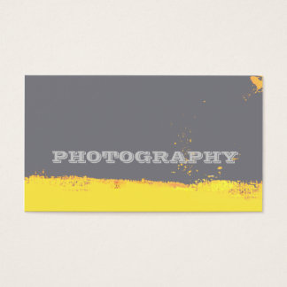 Photography Artist Abstract Brushstrokes Business Card
