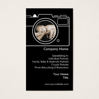 Photography Business Card - Black & White